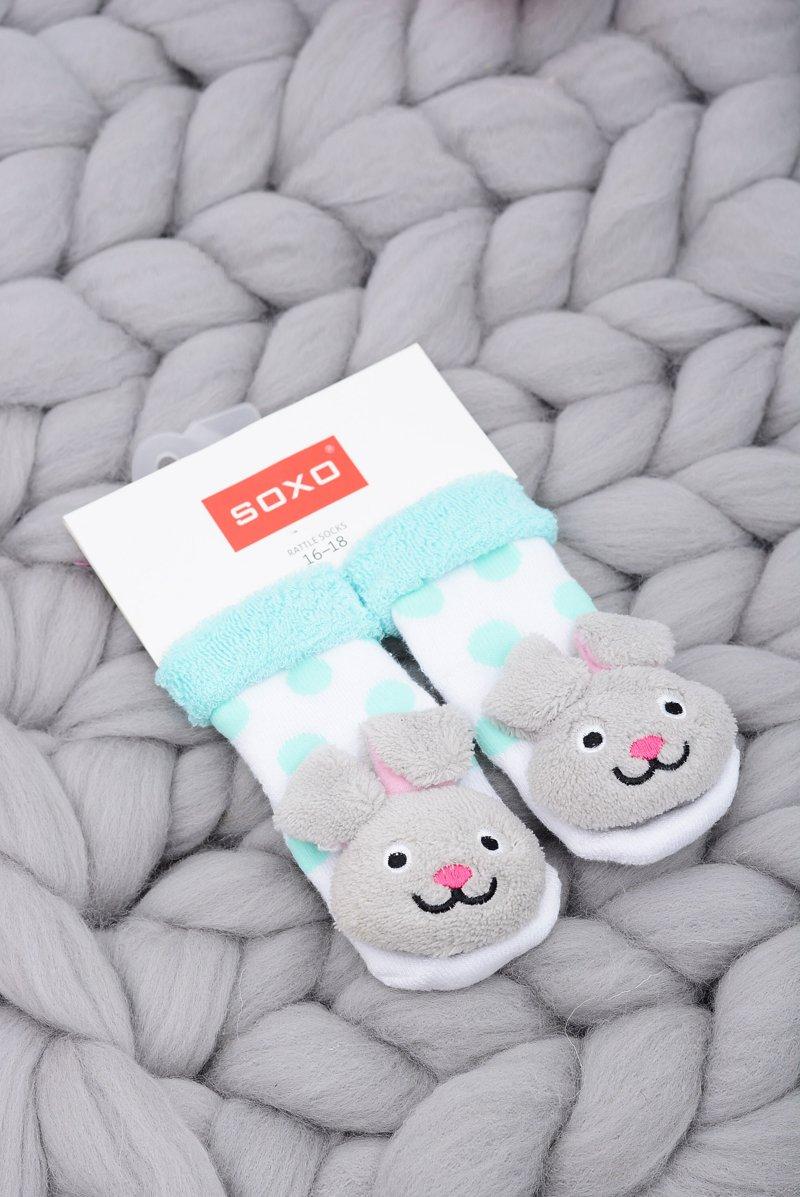 Baby Socks with Rattle Soxo Bunny