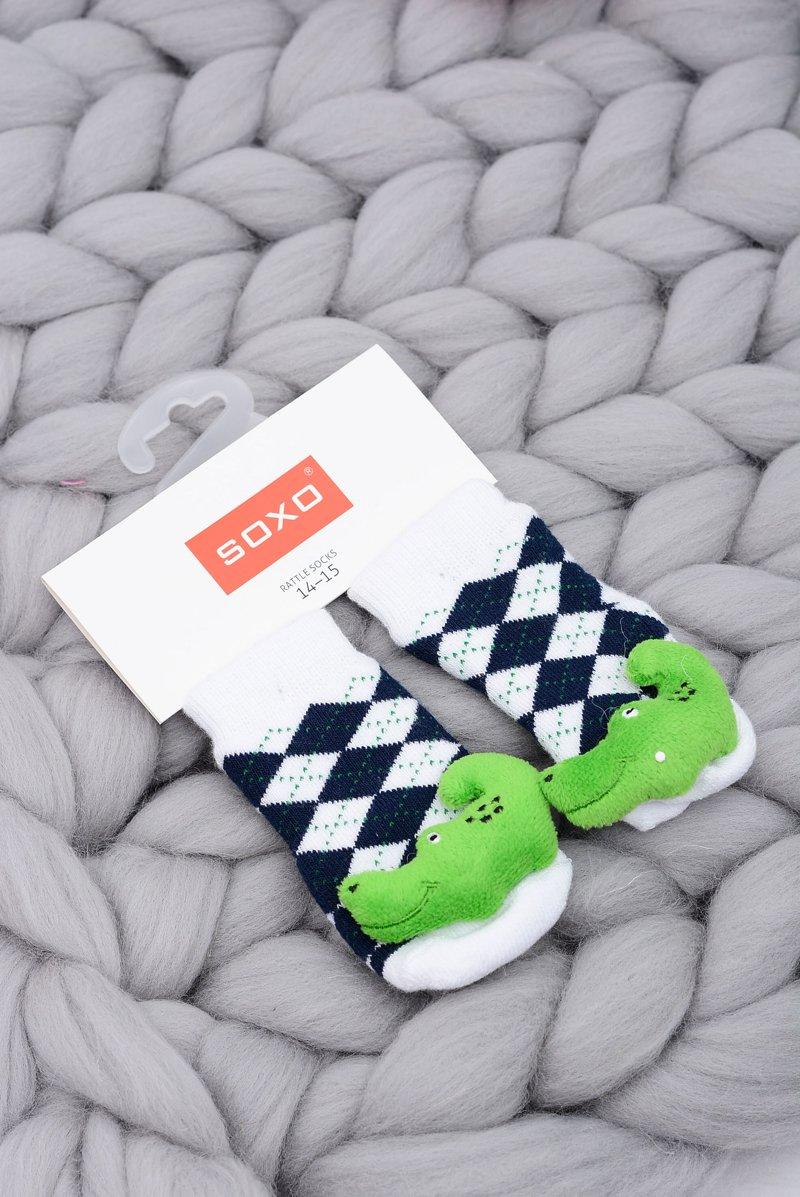 Baby Socks with Rattle Soxo Crocodile