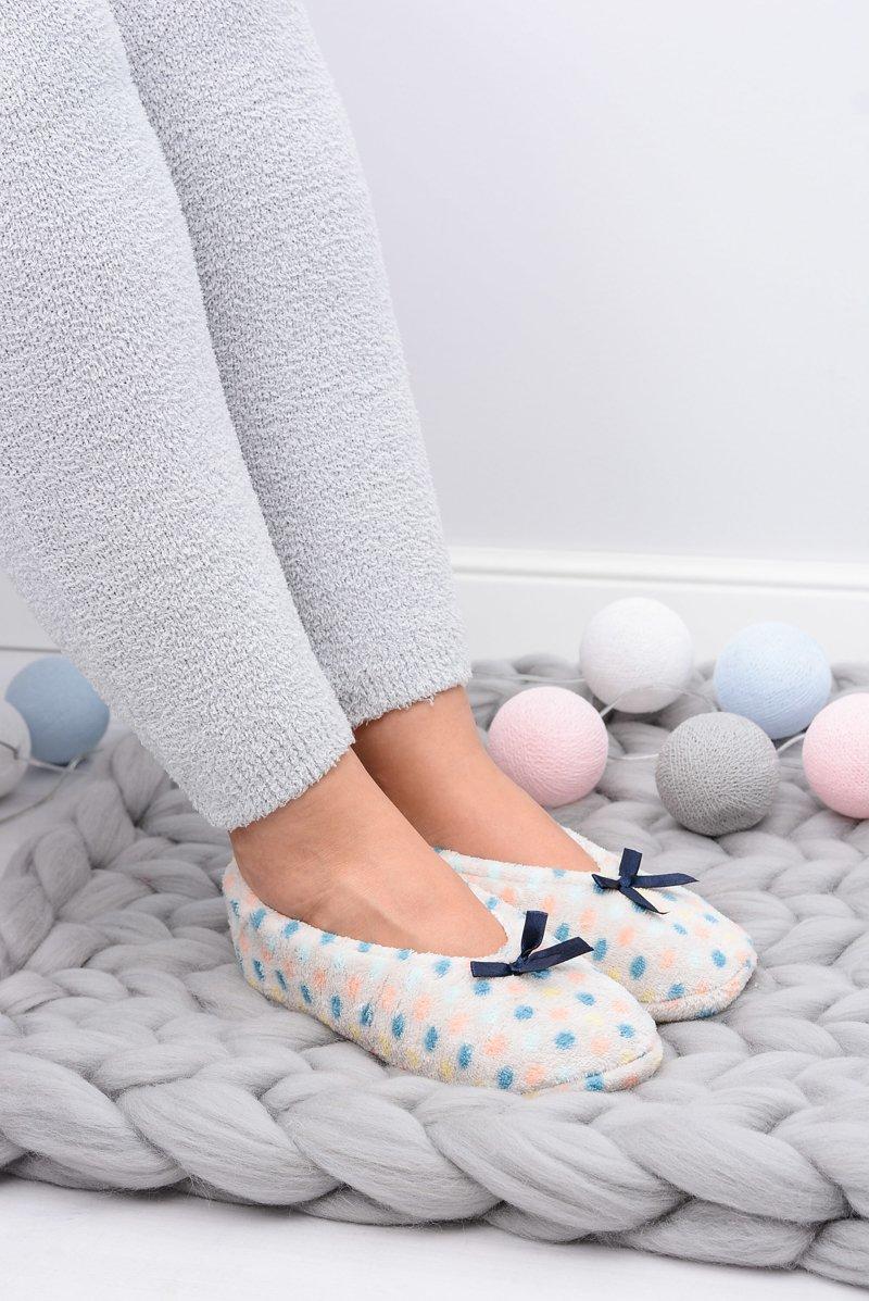Ballerina Women Beige Slippers In Dots SOXO