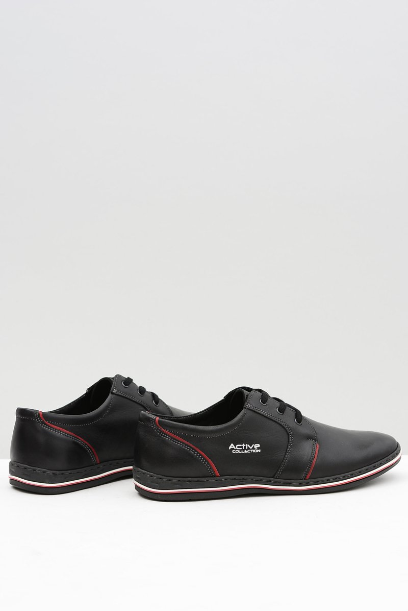 Black Leather Men Shoes Marko