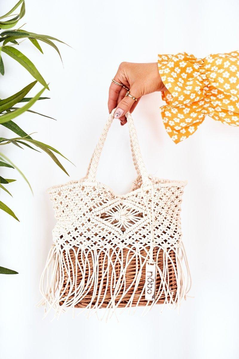 Braided Handbag Basket NOBO XK0050 Beige
