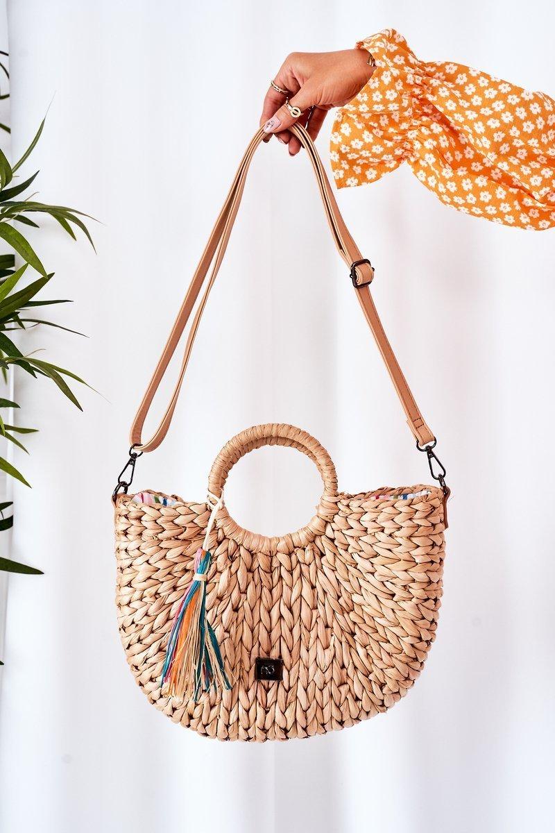 Braided Handbag Basket NOBO XK0490 Beige