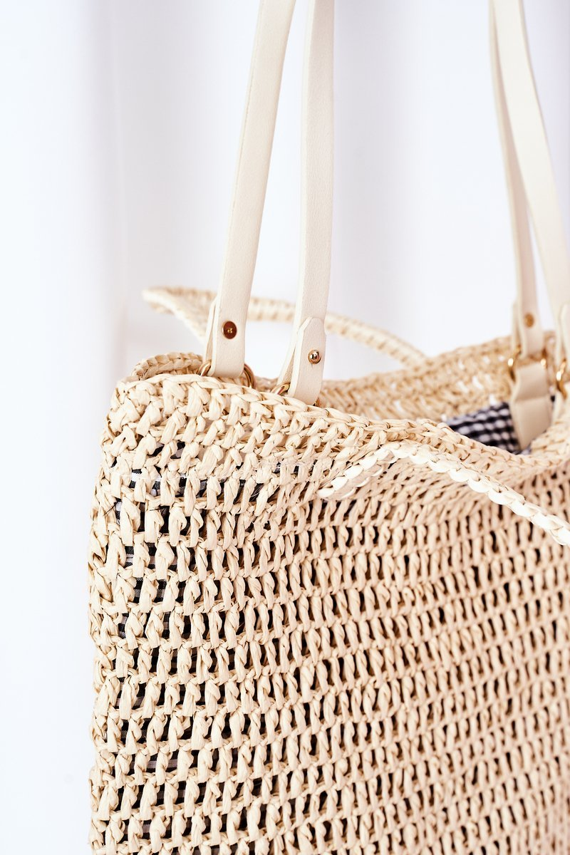 Braided Shopper Bag BRUNO ROSSI Beige