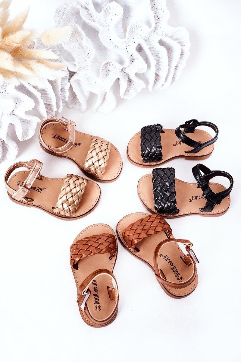 Children's Braided Sandals Camel Bailly
