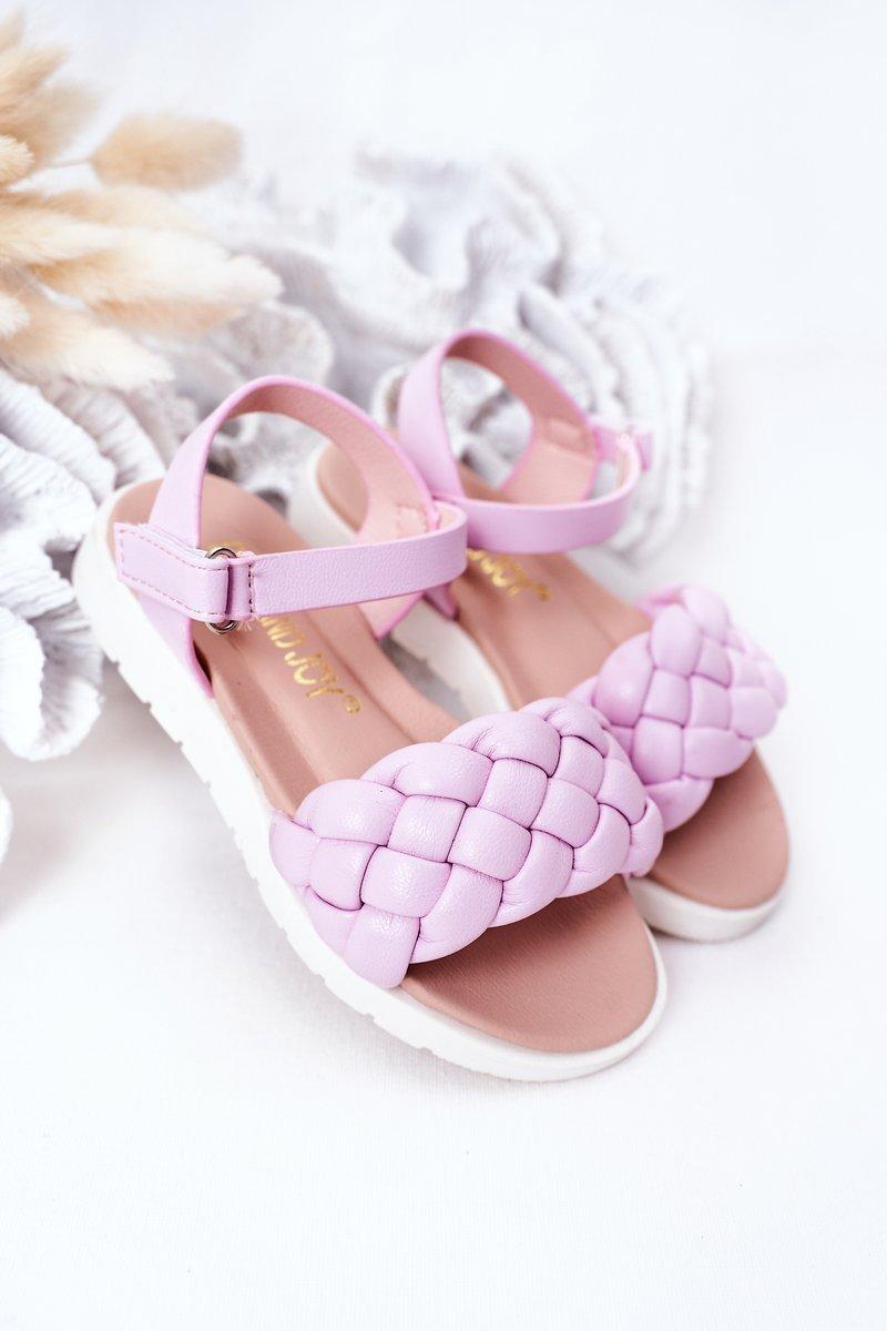 Children's Braided Sandals Purple Adella