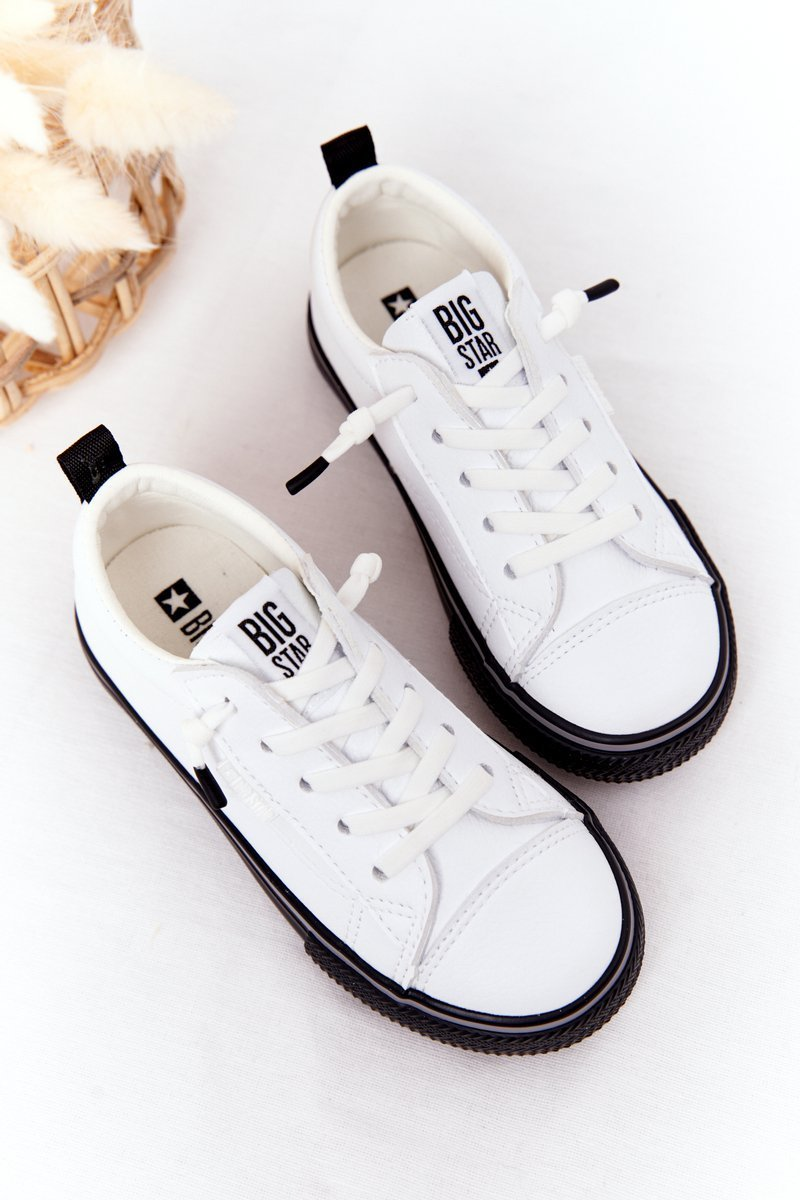 Children's Leather Sneakers BIG STAR HH374037 White