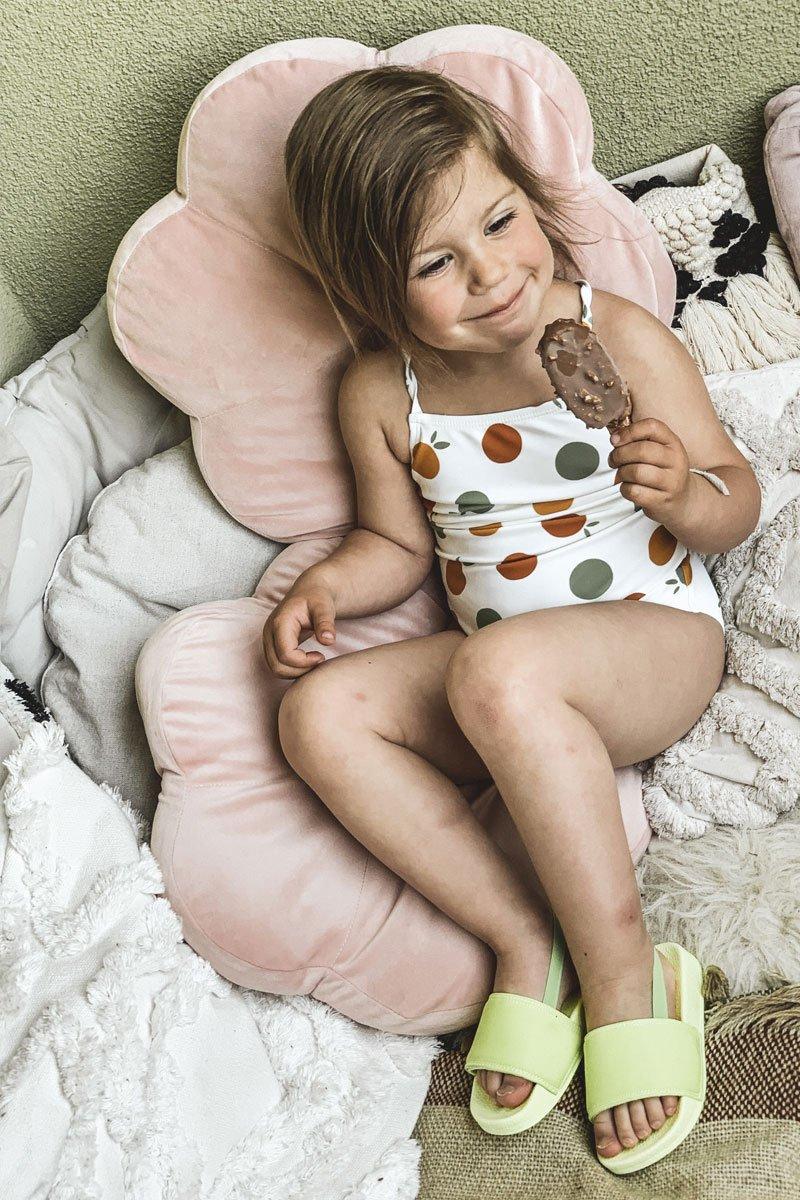 Children's Rubber Slippers Lime Swimmer