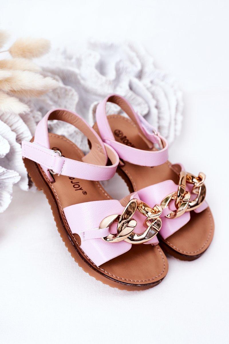 Children's Sandals With Chain Purple Buffy