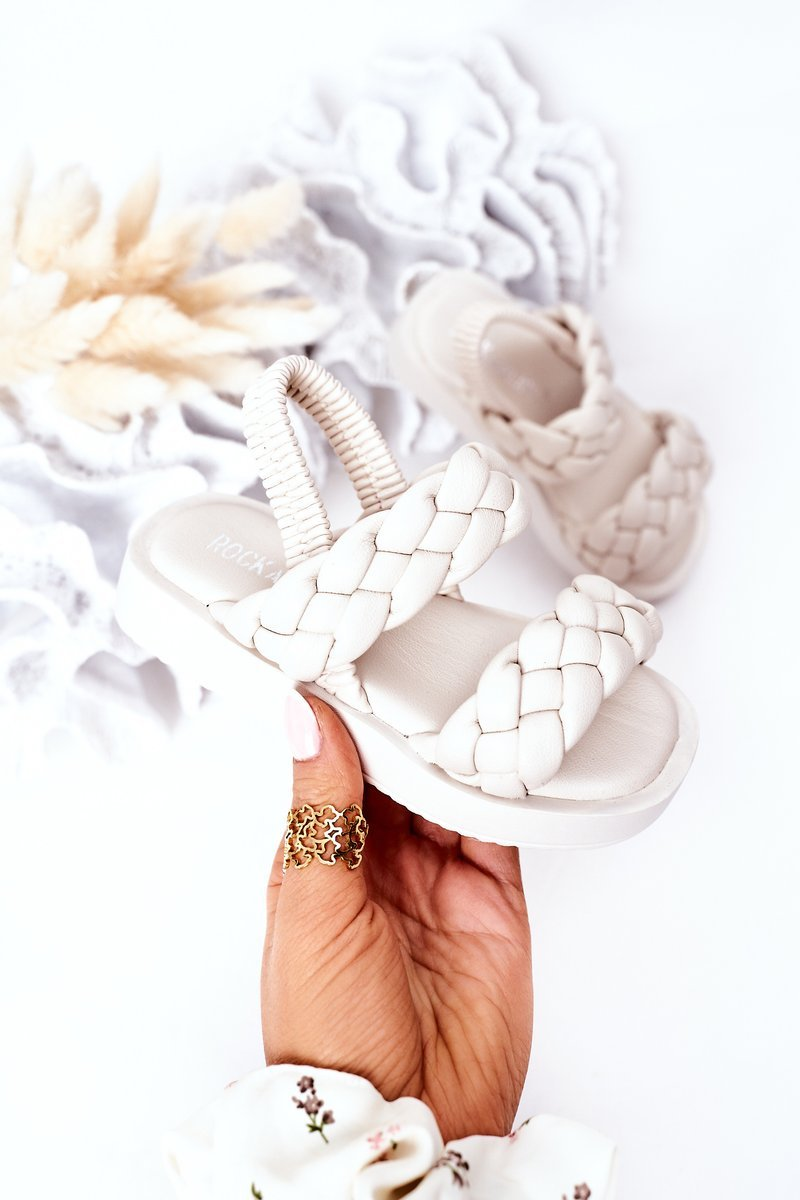 Children's Sandals With Drawstring Beige Cutie-Pie