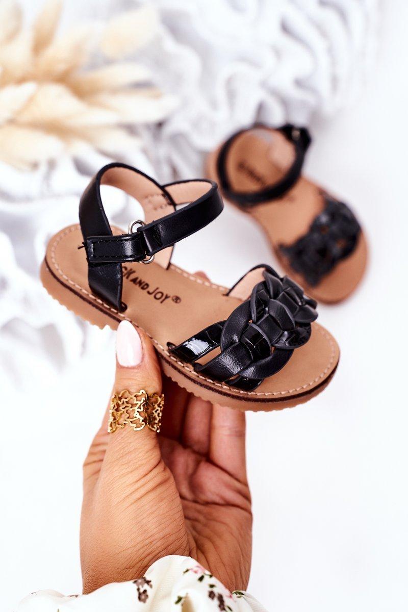 Children's Sandals With Snake Pattern Black Baxlee