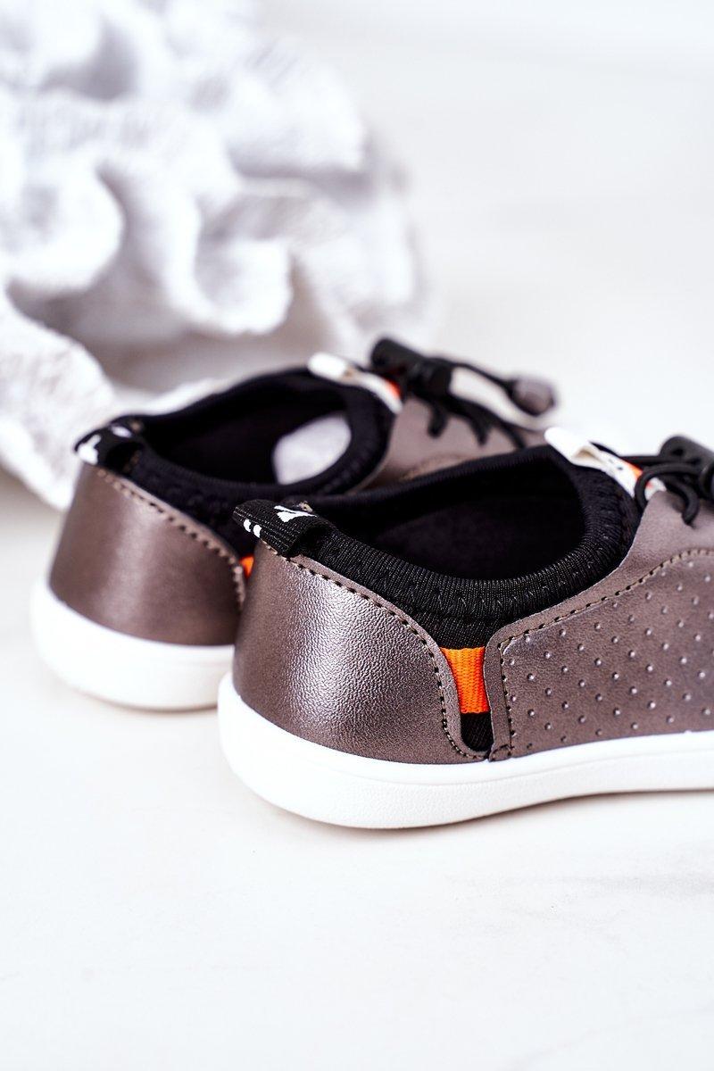 Children's Slip-On Sneakers Silver Playground