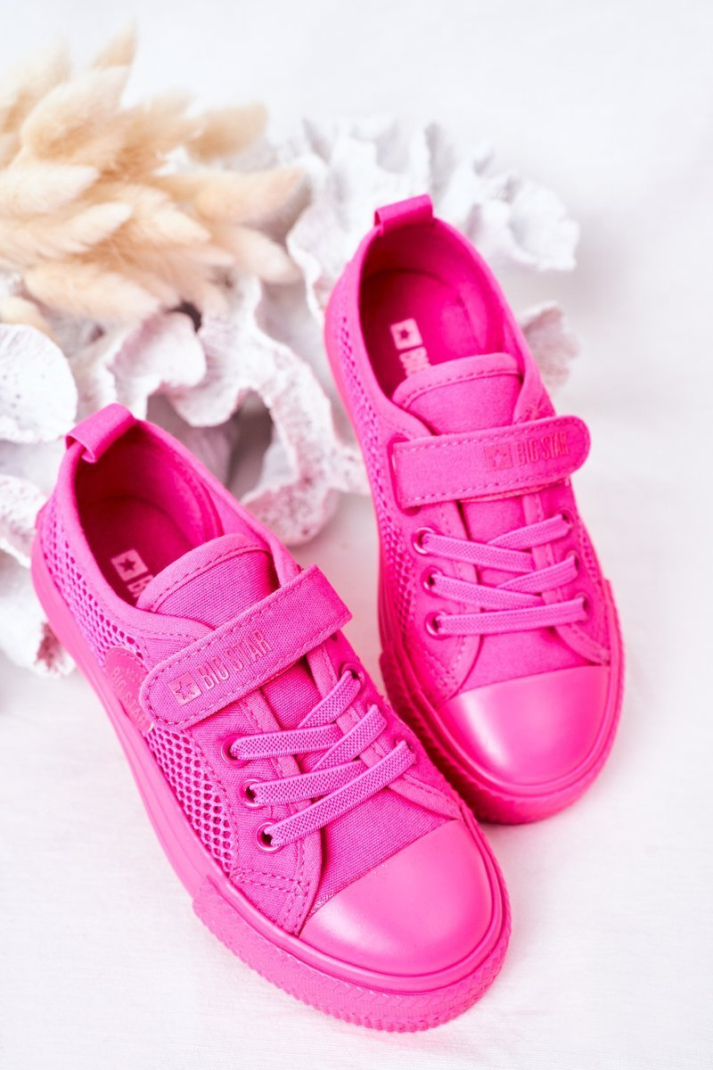 Children's Sneakers With Mesh BIG STAR HH374019 Fuchsia