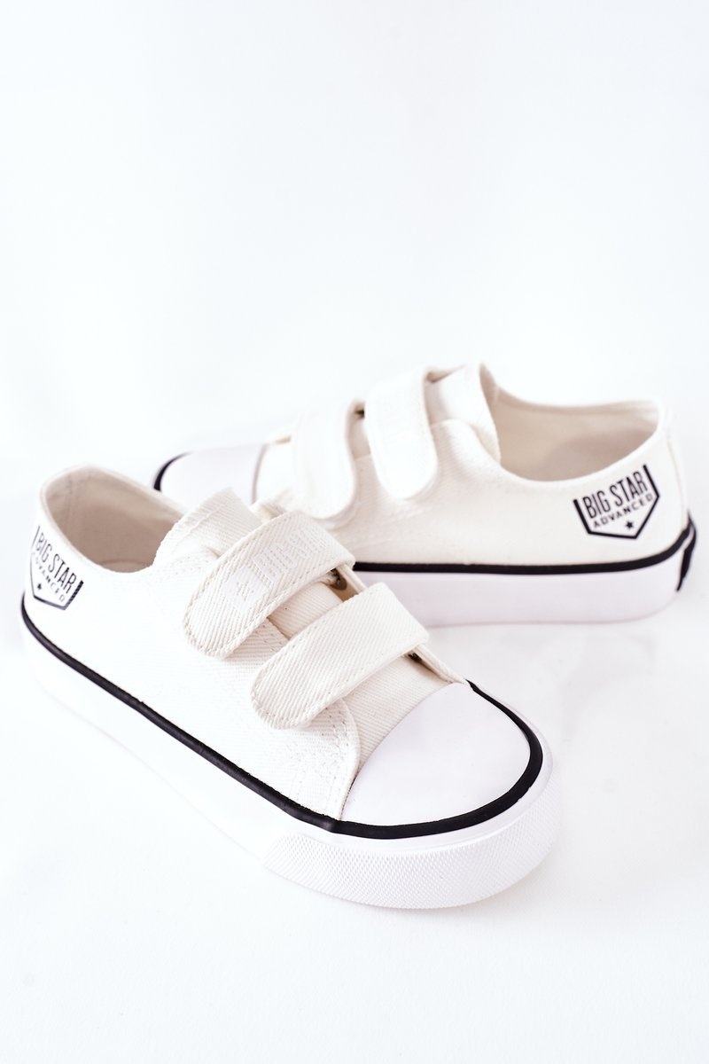 Children's Sneakers With Velcro Big Star FF374061 White
