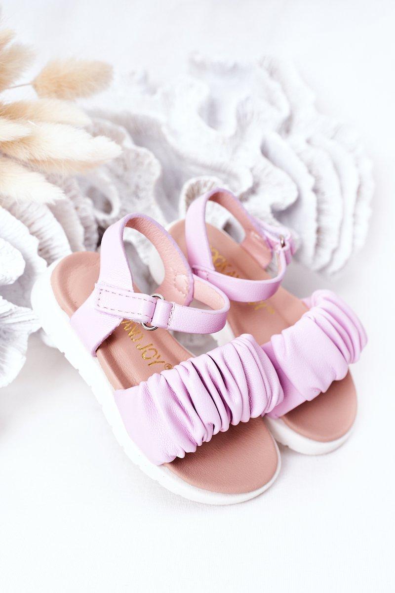 Children's Velcro Sandals Purple Aimy