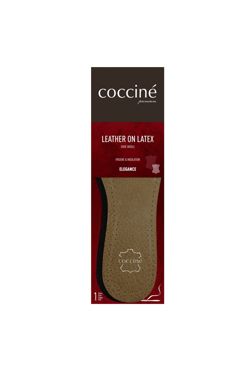 Coccine Leather Insoles On Latex Foam