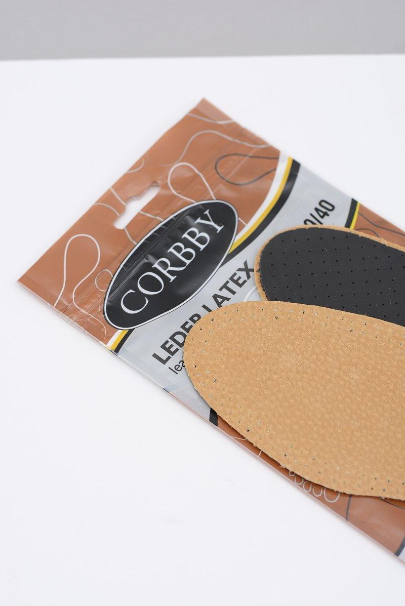 Corbby LEDER LATEX Skórzane wkładki z węglem aktywnym