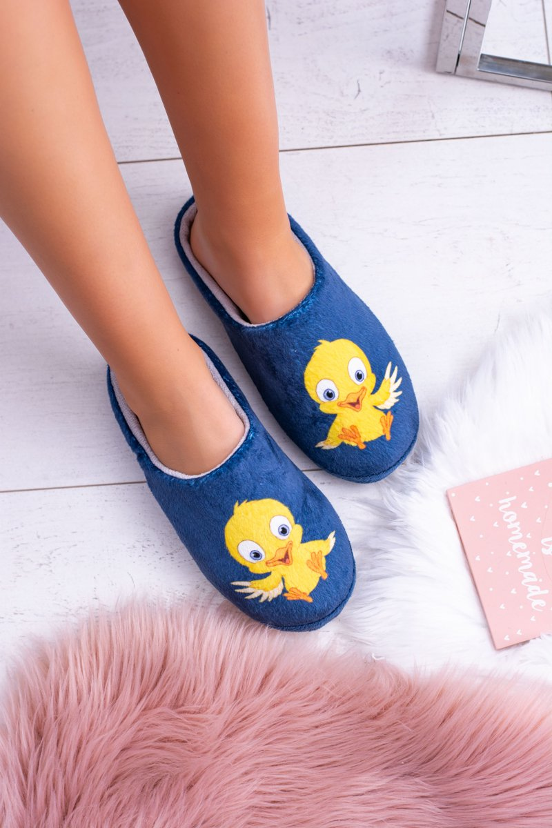 Dreex Women's Plush Slippers Yellow Bird
