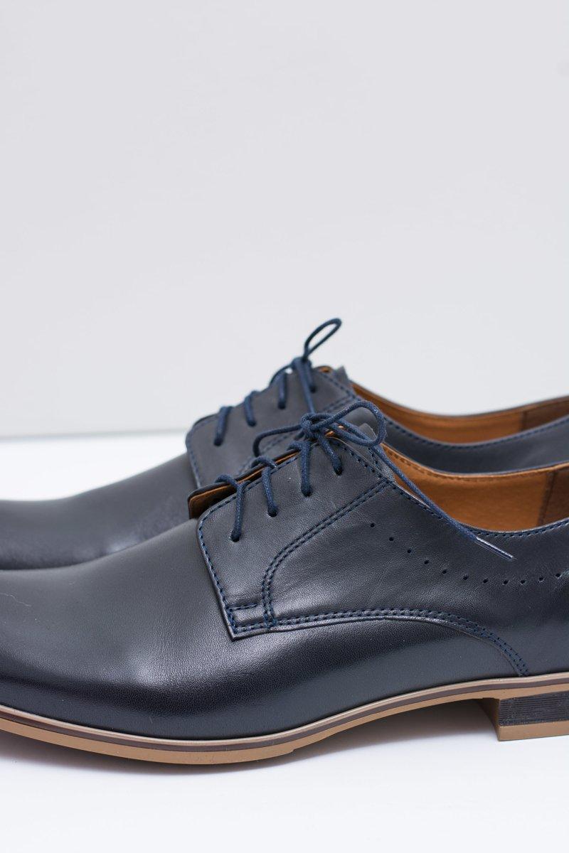 Elegant Men's Formal Dark Blue Shoes Damoste
