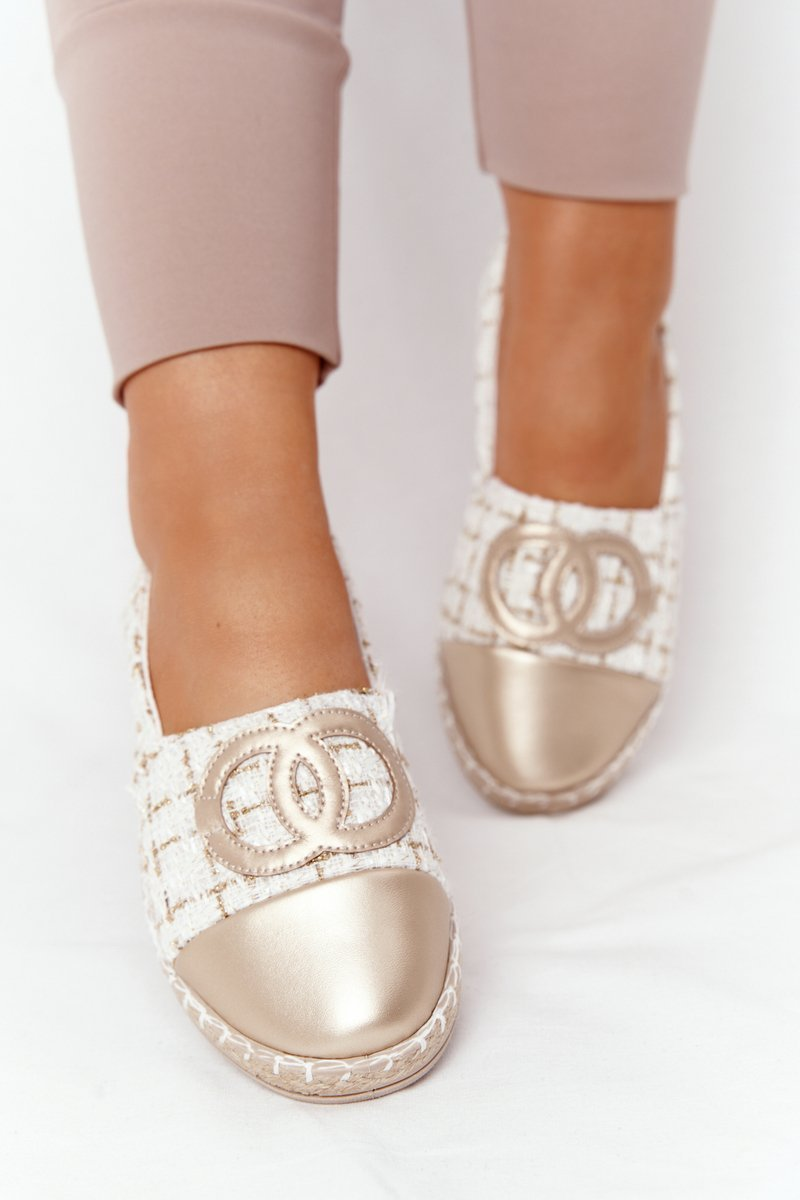 Elegant Women's Espadrilles Gold Be My Love