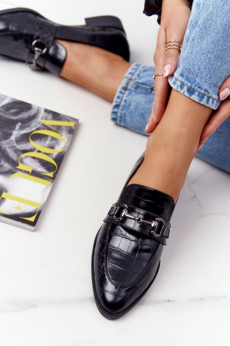 Elegant Women's Loafers S.Barski Black