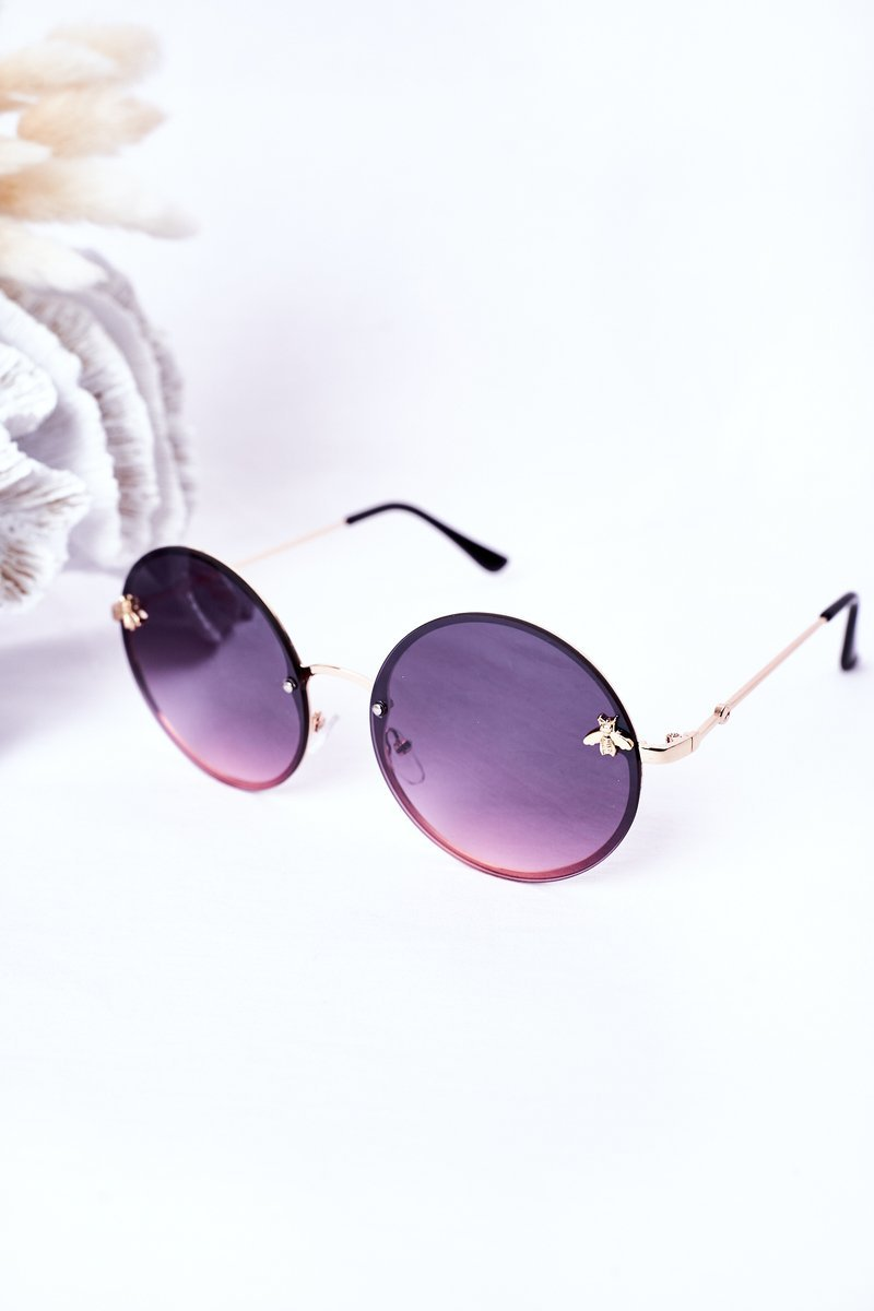Gold Sunglasses With A Fly Pink Ombre