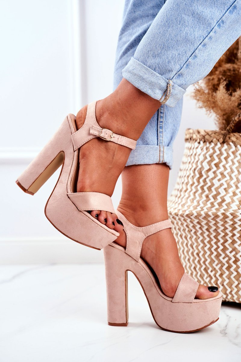 High Pink High Heels Sandals Platform HighShoes