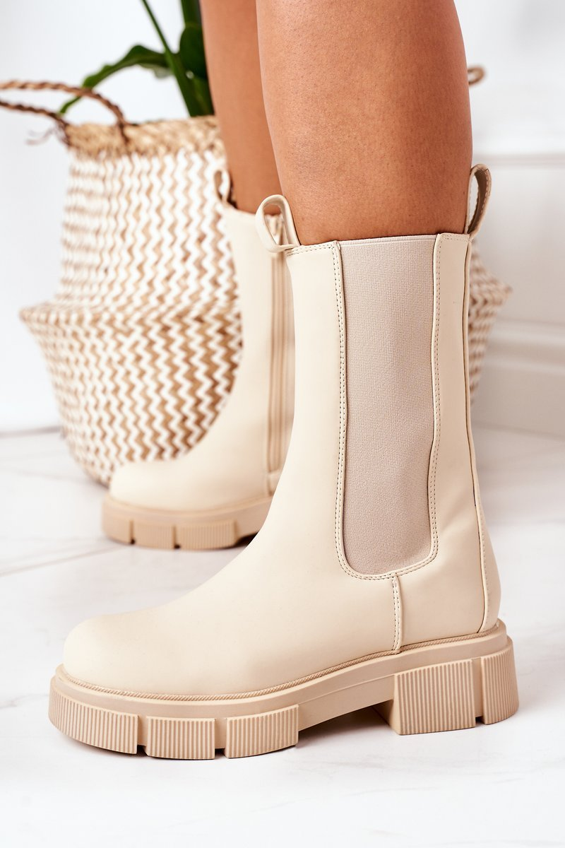 Insulated Chelsea Boots Beige Must Have
