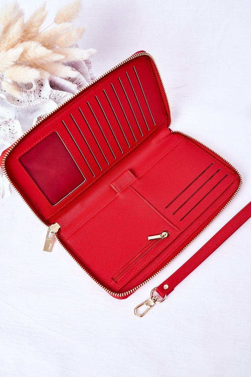Large Leather Wallet Big Star HH674003 Red