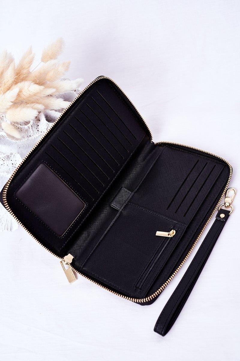 Large Leather Wallet Big Star HH674004 Black