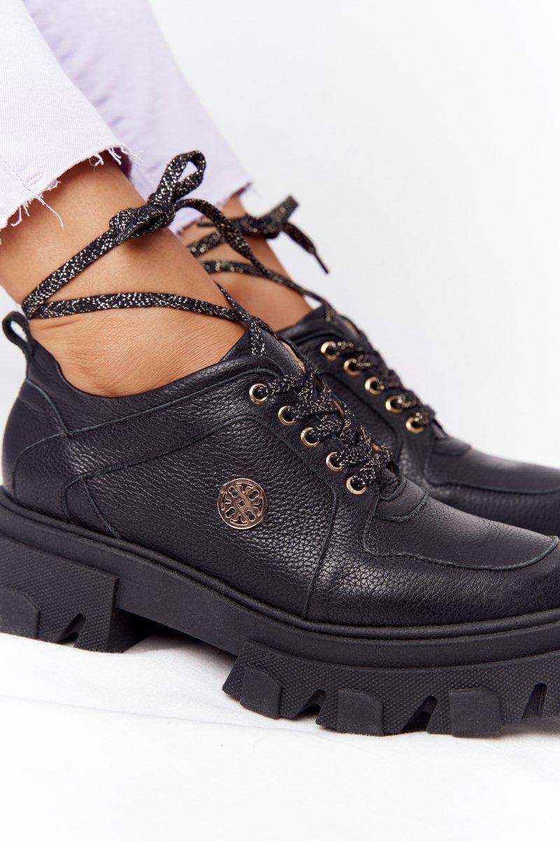Leather Brogues Oxfords Lewski Shoes 3011-0 Black