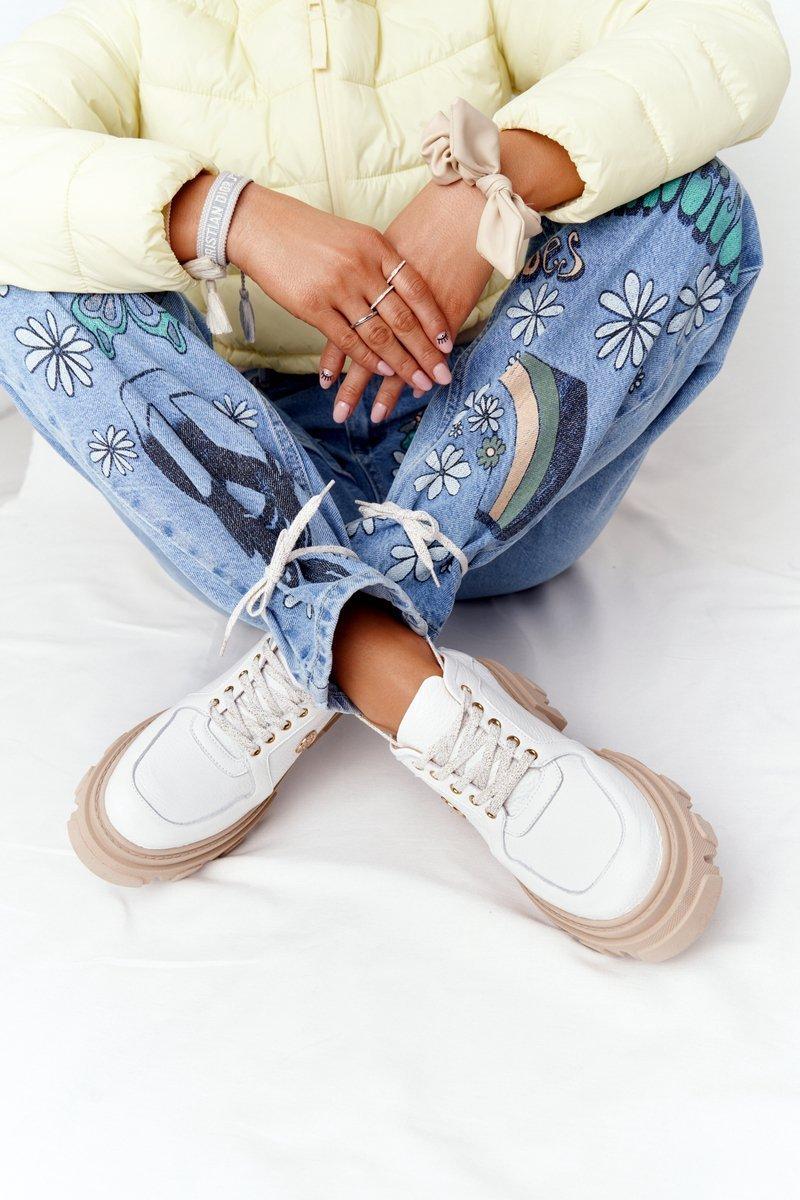 Leather Brogues Oxfords Lewski Shoes 3011-0 White