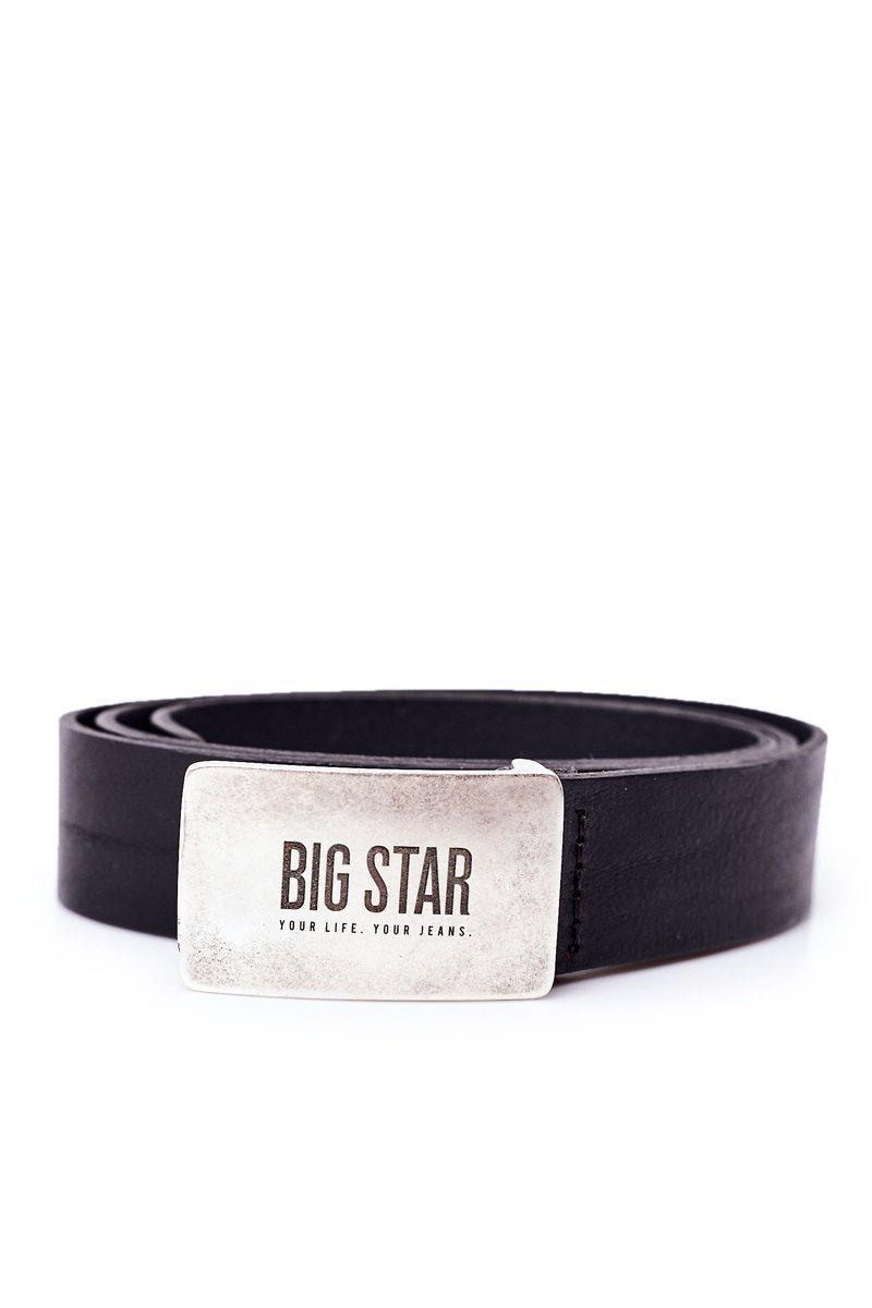 Leather Men's Belt Big Star HH674119 Black