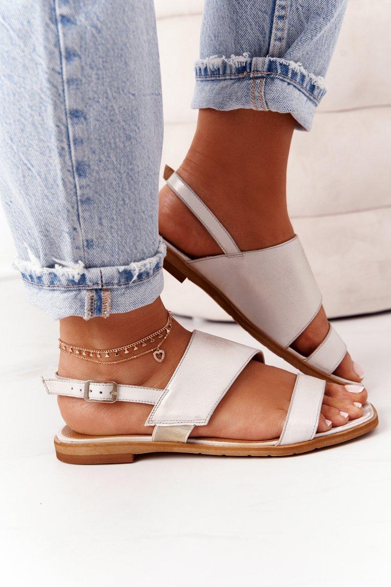 Leather Sandals Maciejka 05167-25 Golden