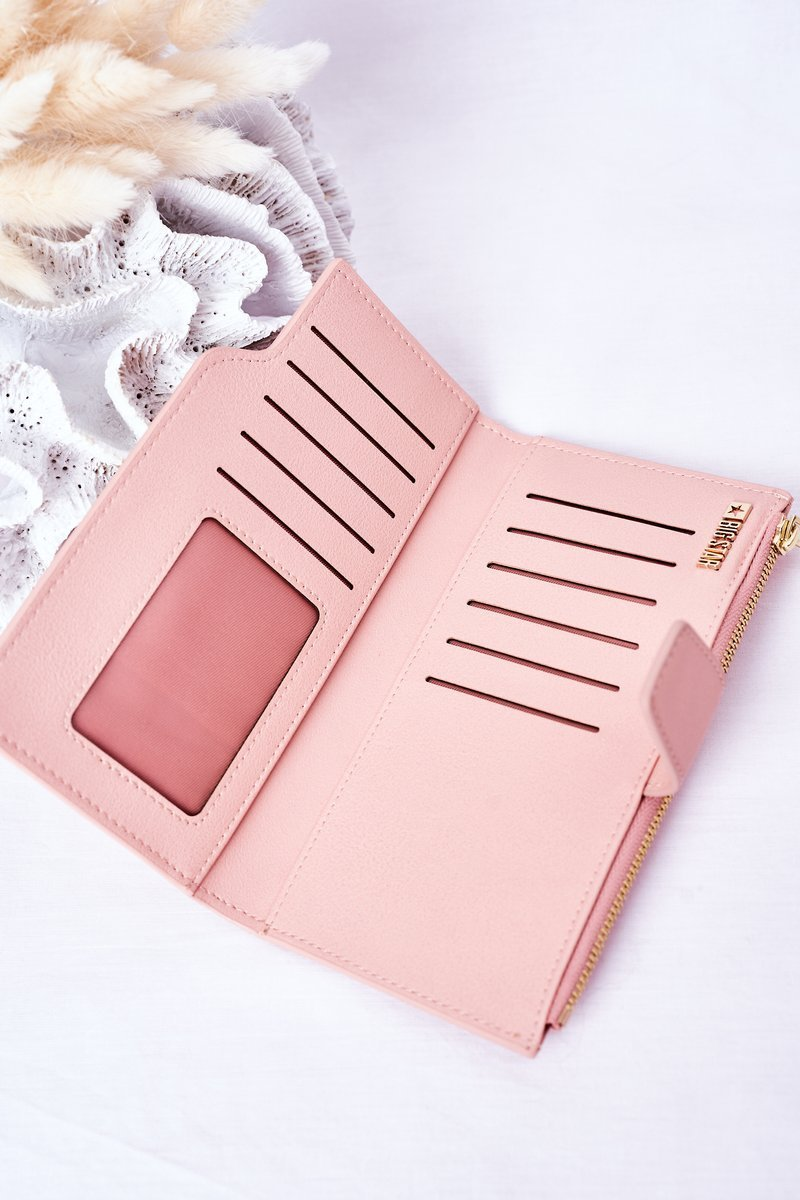 Leather Wallet Big Star HH674011 Pink