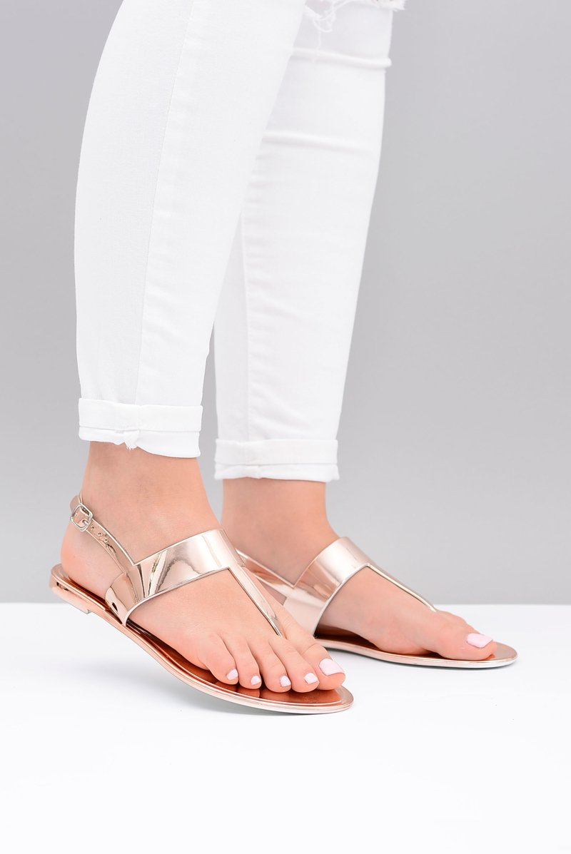 Lu Boo | Mirrored Sandals Golden Rose Flip-flops II-CAT Nora