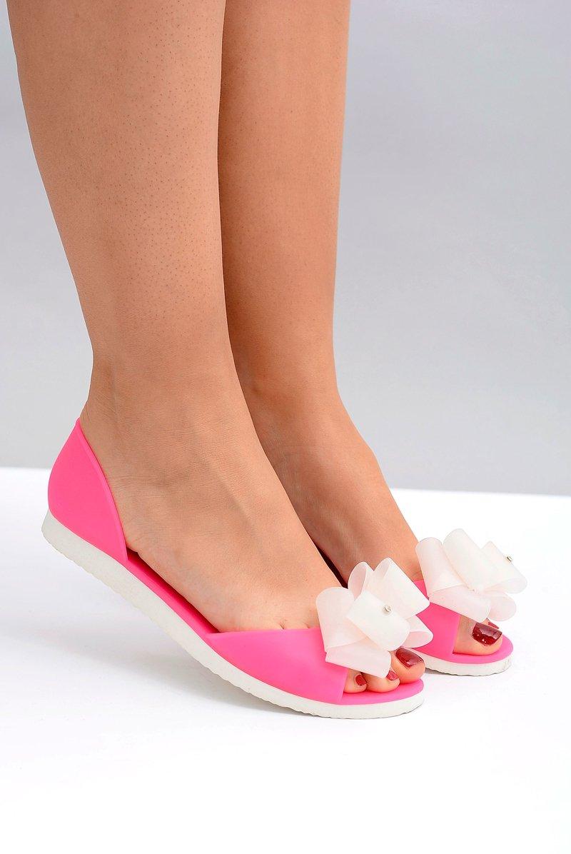 Lu Boo Rubber Ballerinas Neon Candy