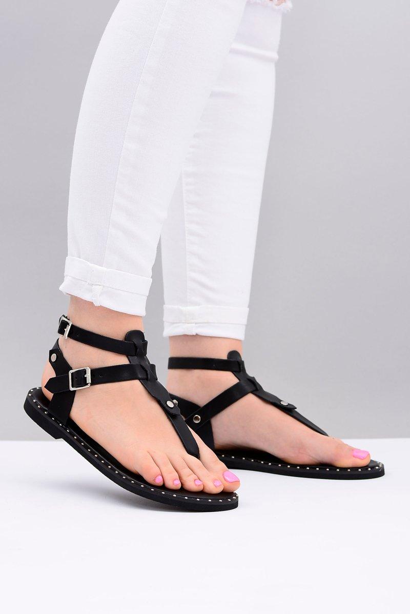 Lu Boo   Women's Sandals Black Japanese Gladiators Achilla