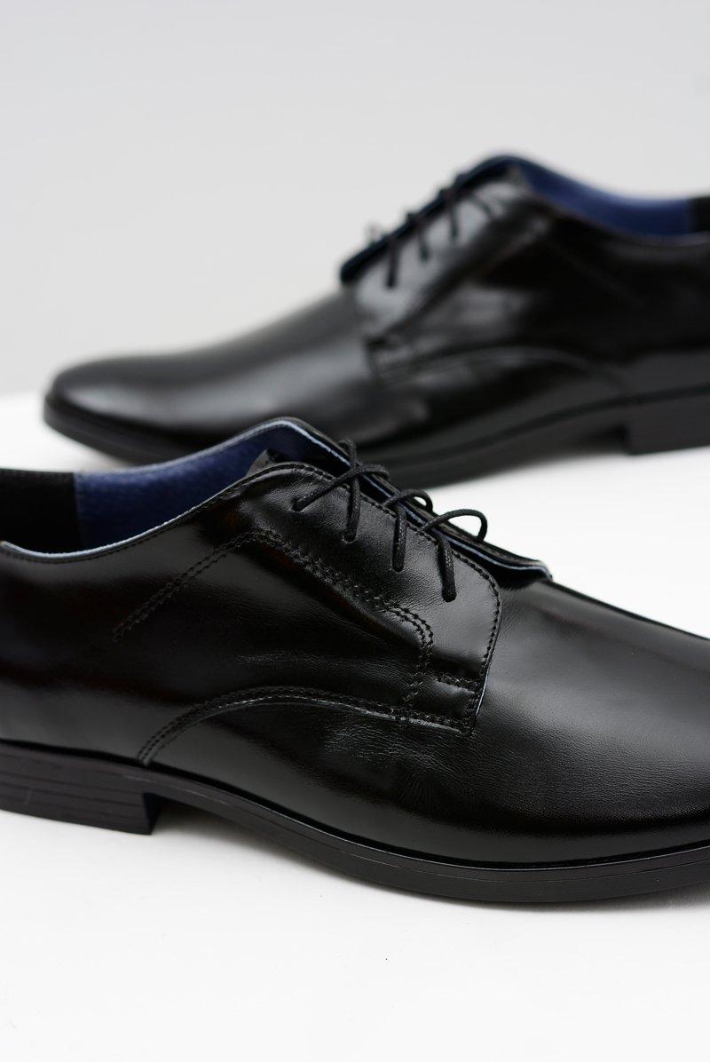 Men's Brogues Bednarek Elegant Leather Lacquered Shoes Black Peter