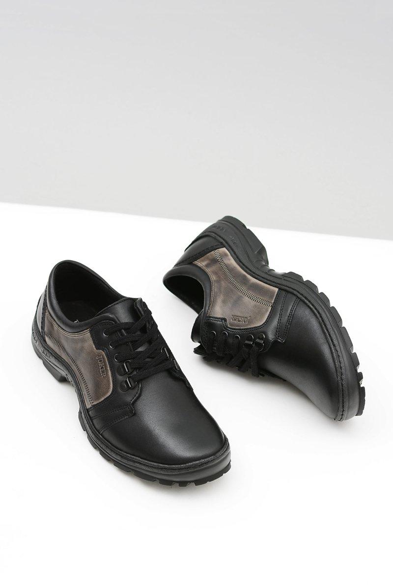 Men's Leather Classic Black Shoes Favello