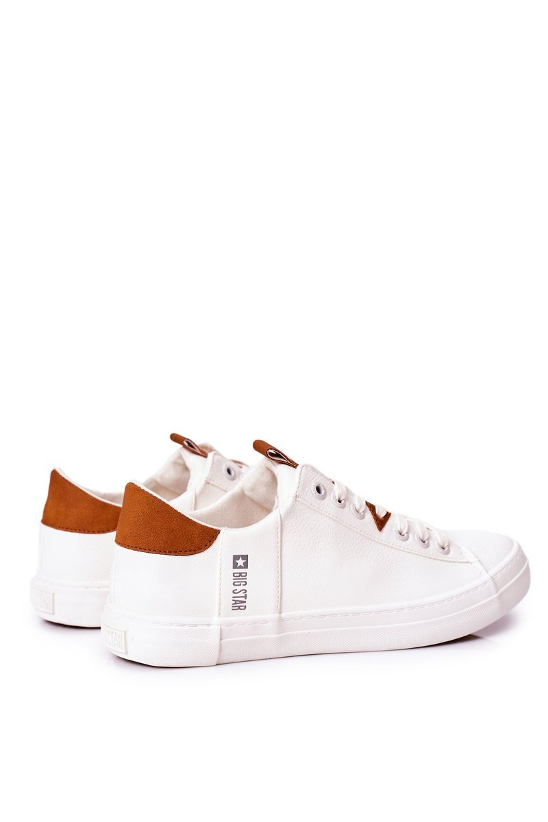 Men's Leather Sneakers Big Star GG174025 White