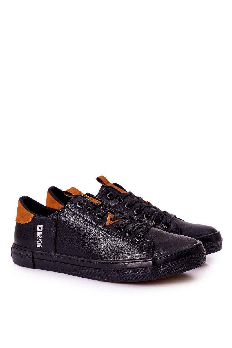 Men's Leather Sneakers Big Star GG174026 Black