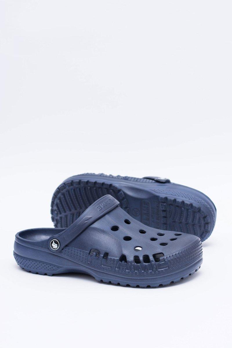 Men's Slides Swimming Pool Crocs EVA Navy Blue