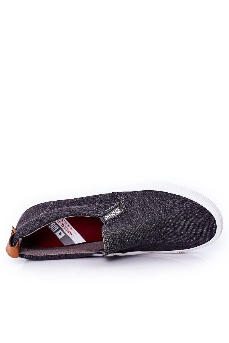 Men's Slip-On Sneakers Big Star DD174162 Grey