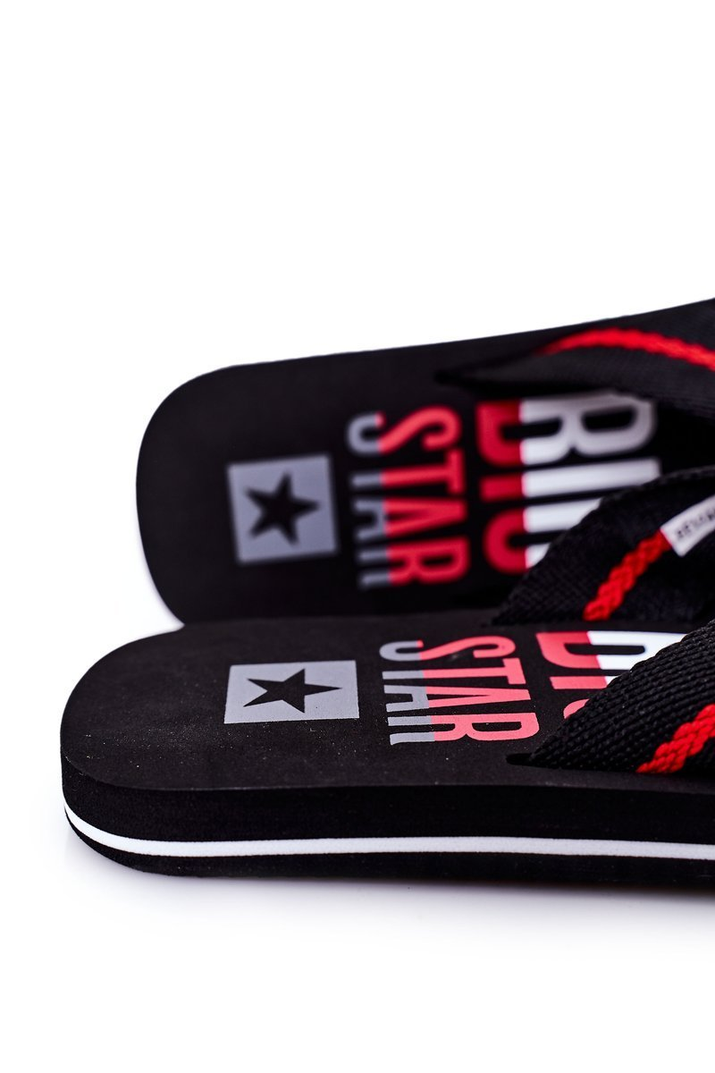 Men's Slippers Flip-Fops Big Star FF174479 Black