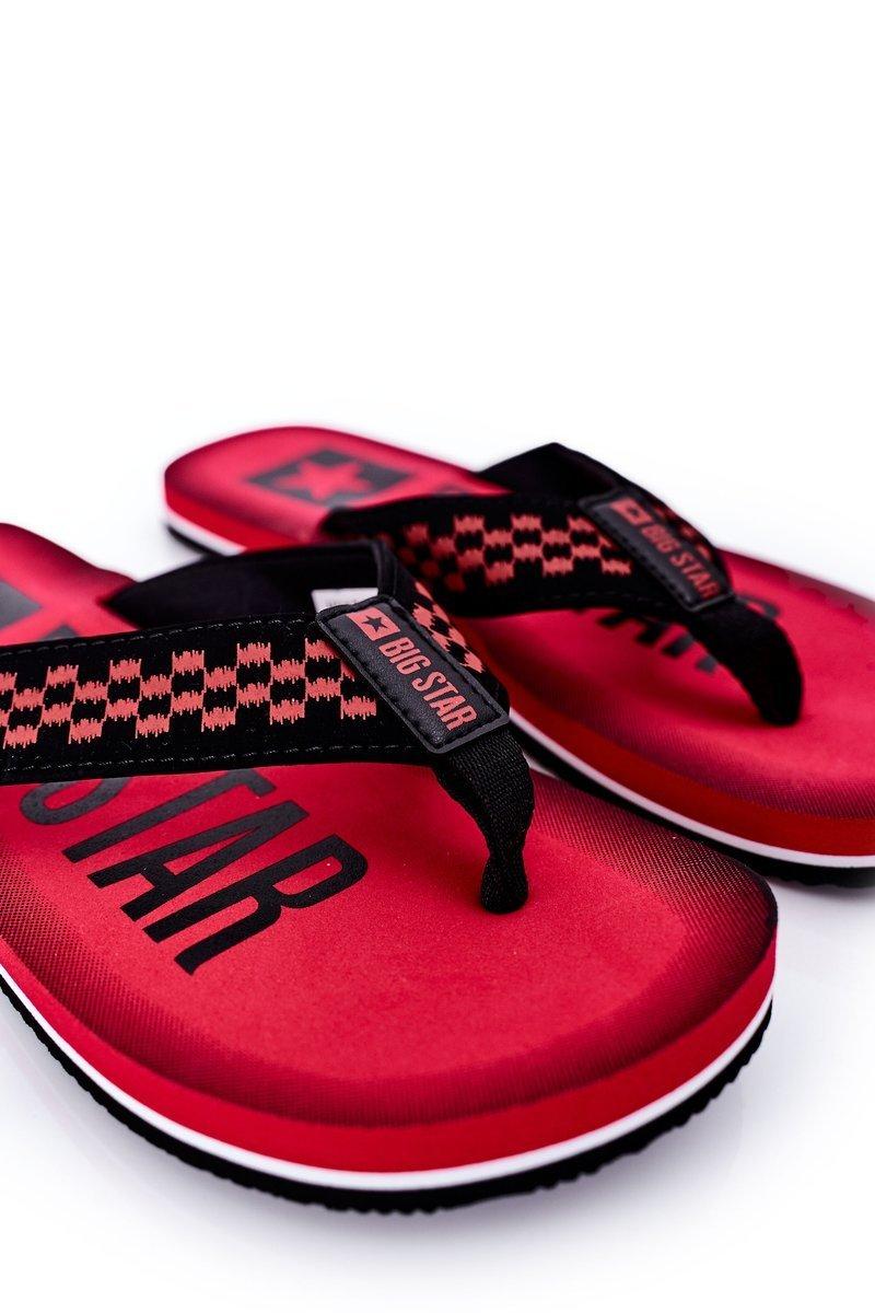 Men's Slippers Flip-Fops Big Star HH174811 Red