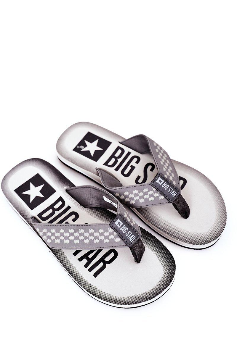Men's Slippers Flip-Fops Big Star HH174813 Grey
