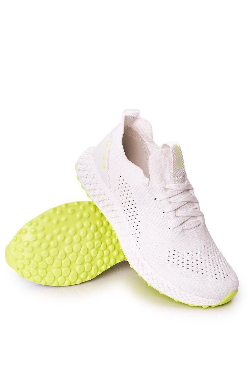 Men's Sport Shoes Memory Foam Big Star FF174235 White-Lime