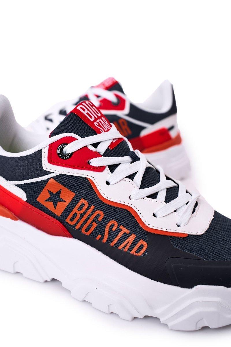 Men's Sport Shoes Memory Foam Big Star HH174207 Navy-White