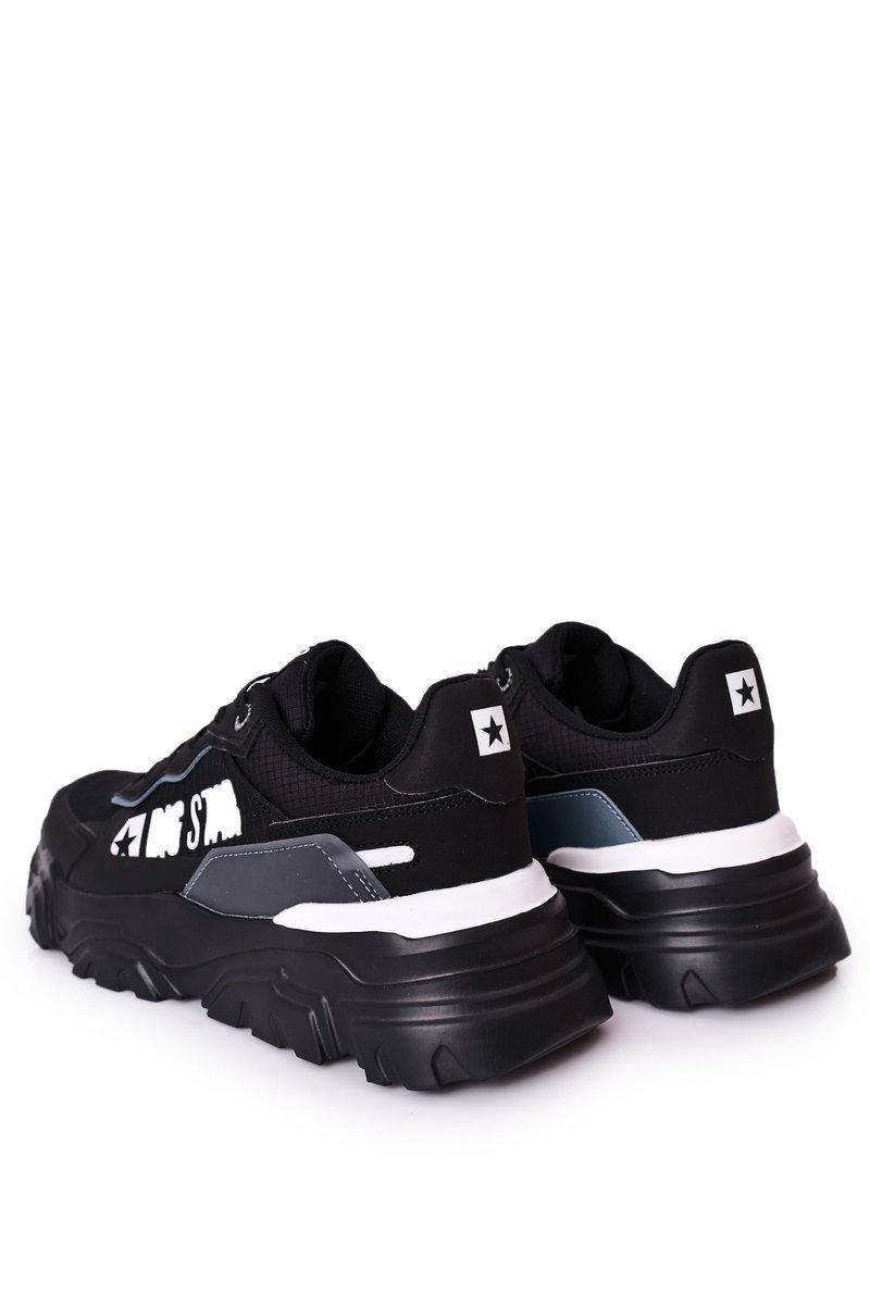 Men's Sport Shoes Memory Foam Big Star HH174209 Black-Blue