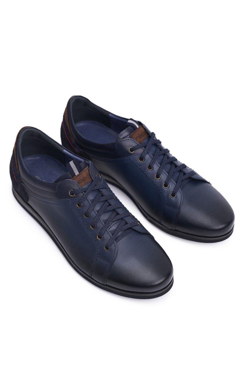 Nikopol Navy Leather Men's Shoes Achilles
